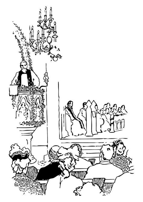 coloring page priest  pulpit  printable coloring pages img