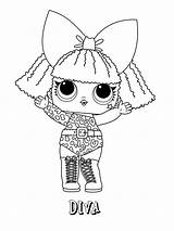 Lol Coloring Pages Surprise Dolls Diva Series sketch template