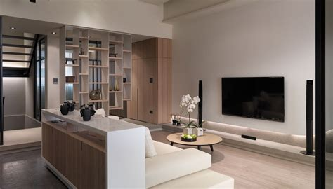 modern living room multi level contemporary apartment