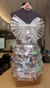 students use recycled materials to create the new