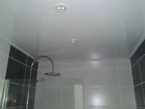 emejing poser un faux plafond pvc salle de bain With pose faux plafond salle de bain