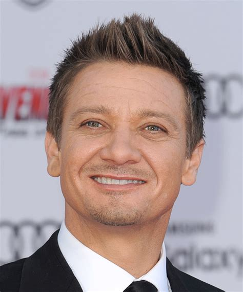 Jeremy Renner Casual Short Straight Hairstyle Light