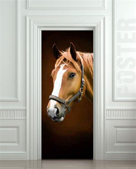 door sticker horse mare mustang hoof ride mural decole