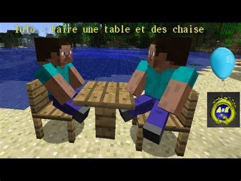 fabriquer une chaise tuto faire des chaise et une table minecraft