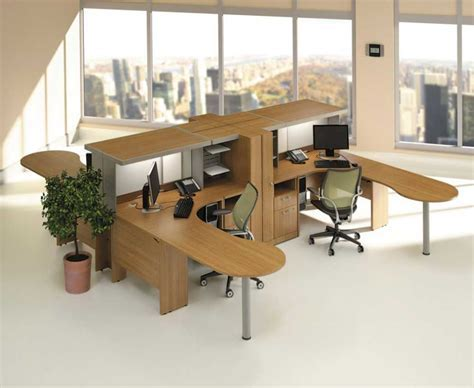 Home Office Modular Home Office Furniture Idea With Brown