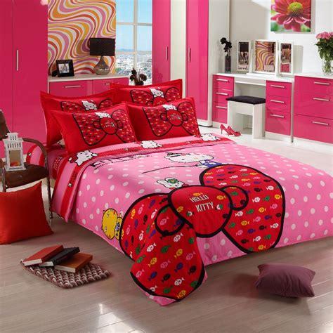 pcs  kitty bedding sets comforter set duvet cover