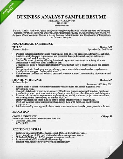 business analyst roles and responsibilities resume 28
