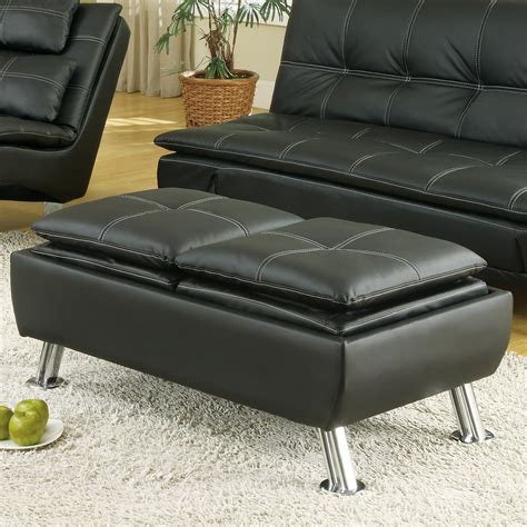 Reversible Ottoman With Tray - coaster 300283 ottoman with reversible tray tops