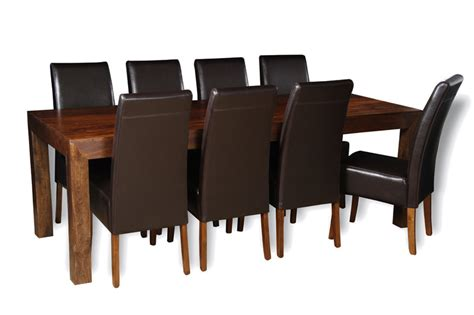 dakota 220cm dining table 8 madrid chairs trade
