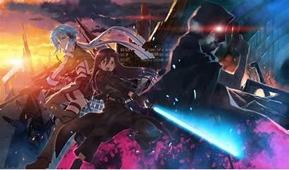 Gun Death Kirito Sinon Sword Wallpapers Anime