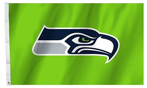 seattle seahawks flag  logo  lime green