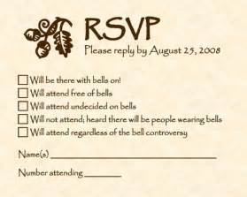 Funny RSVP Card Wording
