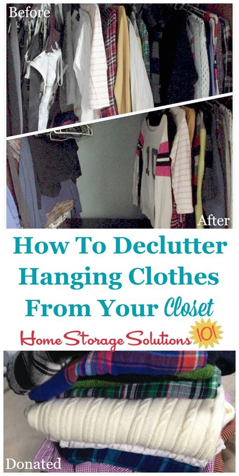How To Declutter Closet by How To Declutter Your Closet Hanging Clothes