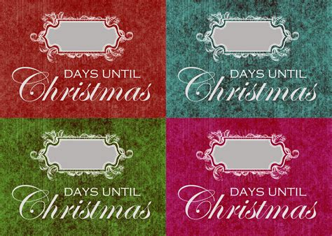 days till christmas template 4 best images of days until christmas printable