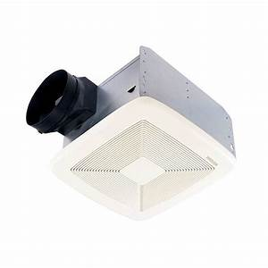 Broan qtxe080 ultra silent bathroom fan for Best quiet bathroom exhaust fan