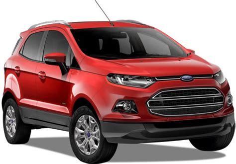 precios versiones  especificaciones de la ford ecosport