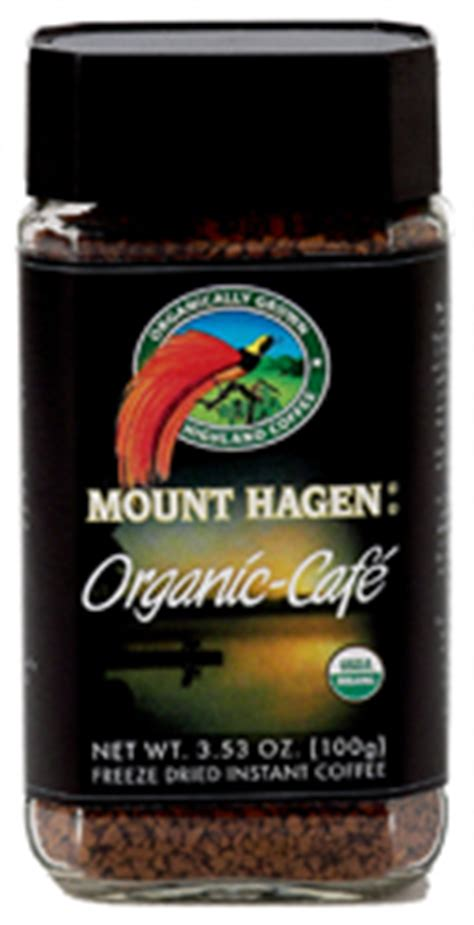 The world's first organic freeze dried instant coffee! Mount Hagen Kosher Organic Coffee 3.53 OZ - Koshervitamins.com