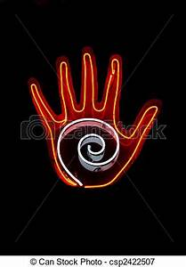Neon Sign For Palm Reading Royalty Free Stock Image