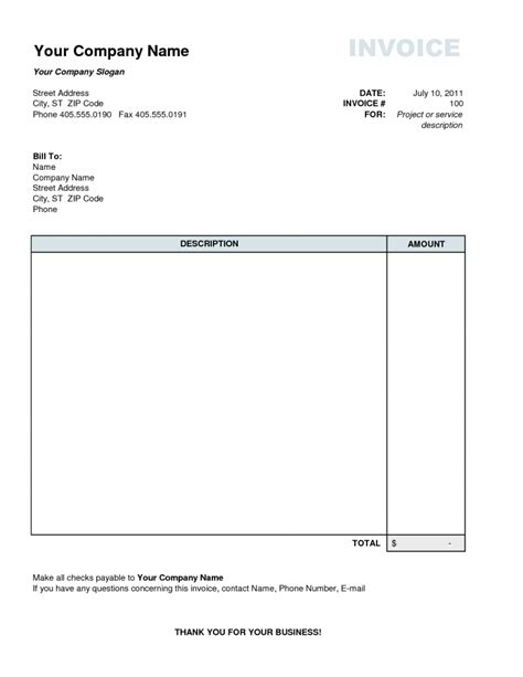personal templates personal invoice template invoice exle