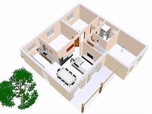 plan maison 3 d great maison chambres avec garage With prix gros oeuvre maison 100m2