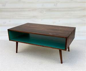 1000 ideas about teal coffee tables on pinterest mid for Small mid century modern coffee table