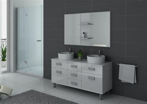 meuble de salle de bain blanc 2 vasques meuble de salle de bain blanc dis911b