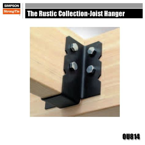 decorative joist hangers strong tie ou814 the rustic collection joist hangers