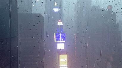 Rain Window Pane Rainy Square Animation Outside