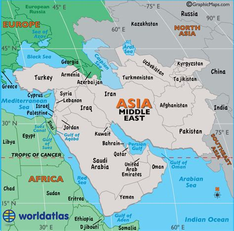 middle east map map   middle east facts