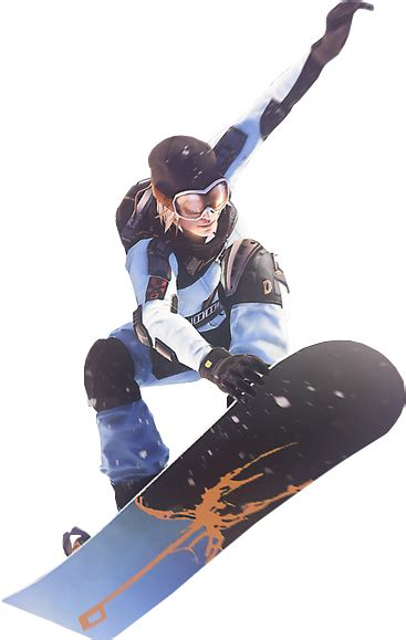 snowboard man png image