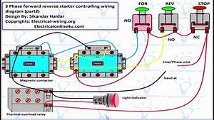 Reverse Forward Motor Control Circuit Diagram For 3 Phase  Hindi  Urdu