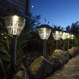 Lights solar landscape stainless steel
