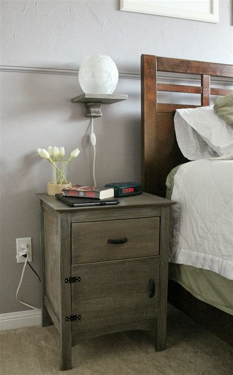 bedside storage ideas old bedside wood nightstand table with floating l storage and drawer ideas