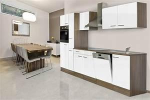 Küchenzeile 310 Cm : respekta einbau k che k chenzeile 310 cm eiche york nachbildung wei ceran ebay ~ Indierocktalk.com Haus und Dekorationen