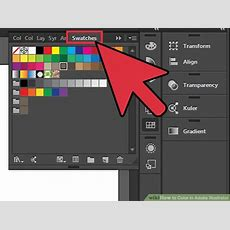 How To Color In Adobe Illustrator 12 Steps (with Pictures