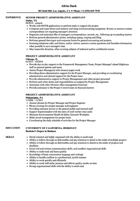 It has come to our attention that several agencies or persons, are claiming to be acting on world vision's behalf in recruiting or facilitating the recruitment of personnel. Project Administrative Assistant Resume Samples (With images) | Administrative assistant resume ...