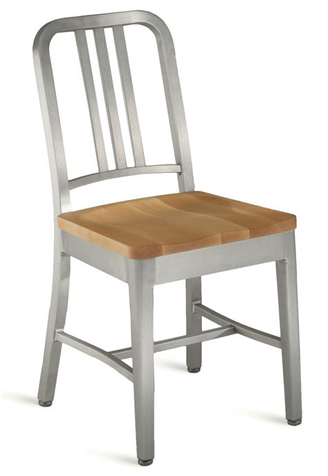 Emeco Navy Chair Replacement Glides by Emeco Navy Chair With Wood Seat Gr Shop Canada