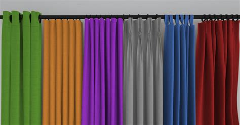 different types of curtain heading style interior decor
