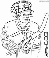 Hockey Goalie Coloring Pages Pads Colorings Coloringway Print Sketch Template sketch template