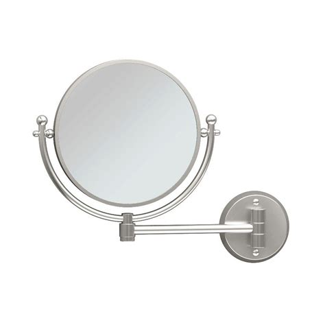 satin nickel mirror gatco cosmetic 14 in x 11 in framed wall mirror in satin 2104