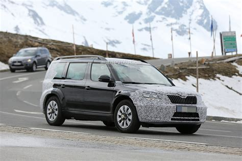 Spyshots 2016 Skoda Snowman 7seater Testing In The Alps