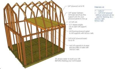 gambrel roof shed plans   build diy