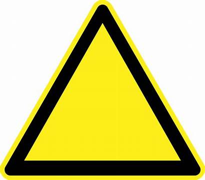 Sign Caution Clip Blank Clipart Warning Cliparts