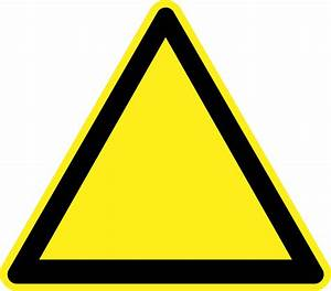 Clipart - Blank Warning Sign