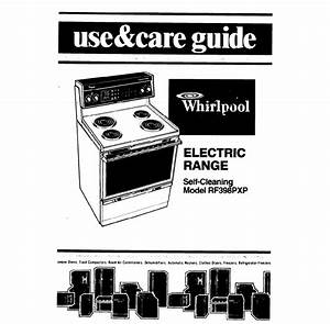 Whirlpool Range Rf398pxp User Guide