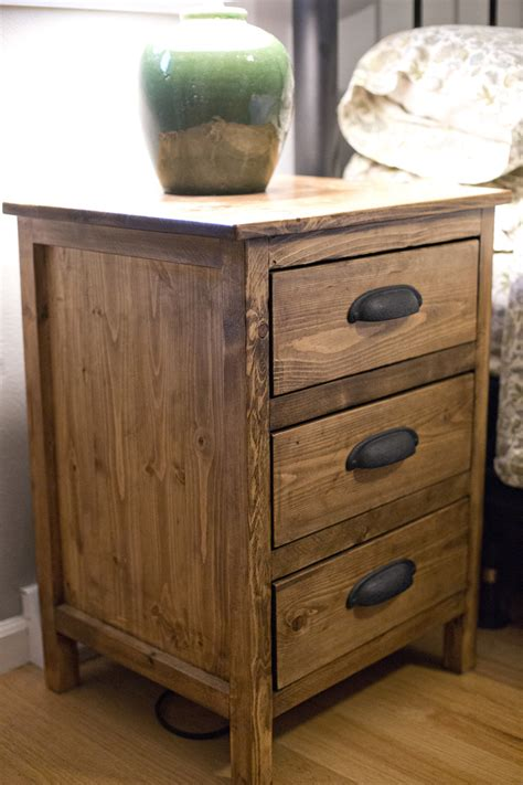 ana white reclaimed wood night stand diy projects