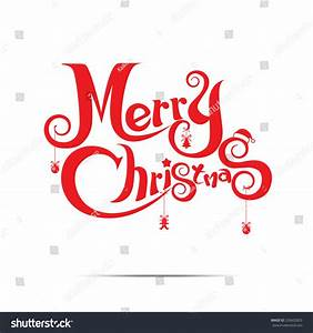 Merry Christmas Text Free Hand Design Stock Vector ...
