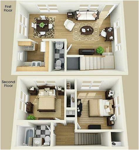 denah rumah minimalis  lantai  kamar tidur  denah