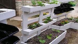 amenager son jardin avec des meubles en palettes bois With meuble de jardin avec palette en bois
