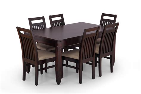 wooden dining table and 6 chairs carmine 7 piece dining table set hayneedle within dining